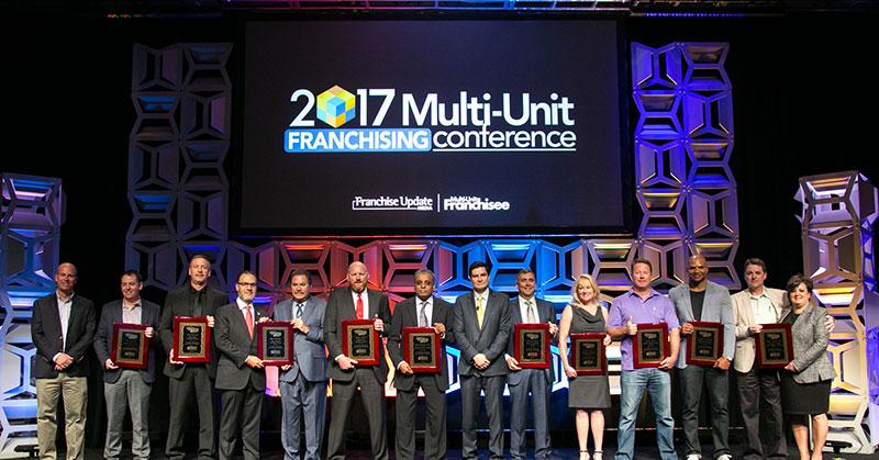 2017 Multi-Unit Franchisee Award Winners