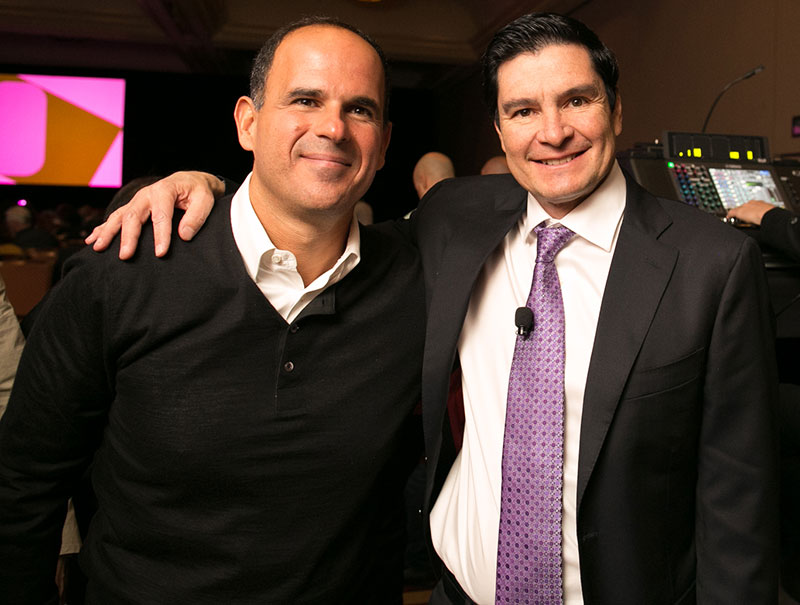 Marcus Lemonis and Guillermo Perales