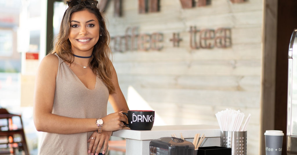 DRNK coffee + tea Blends Premium Coffee with Speed of Service